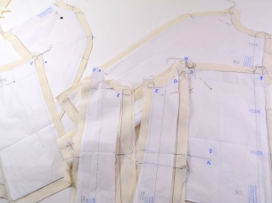 New couture challenge - Jacket by Marfy 3350 - working on muslin