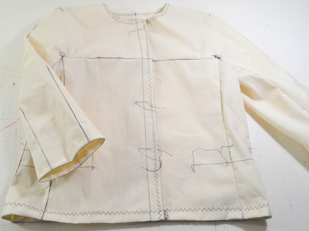 New couture challenge - Jacket by Marfy 3350 - working on muslin - ready
