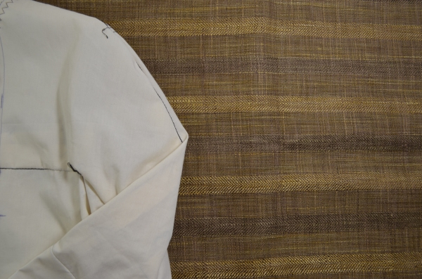 The brownish fabric is linen bland for Marfy 3350 jacket