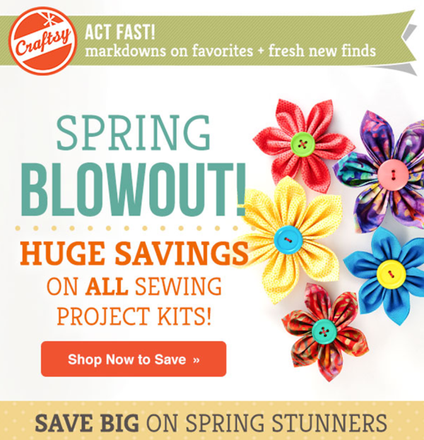 Spring Blowout! HUGE savings, stunning sewing project kits