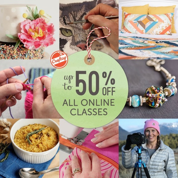 Craftsy, slae, xmas gists idea, online classes