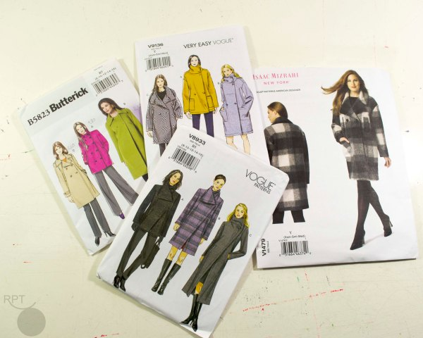 Vogue Patterns and Butterick for a coat
