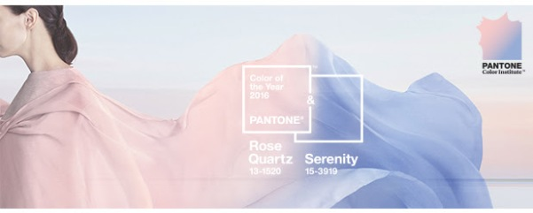 pantone, colour of 2016, ROSE QUARTZ , SERENITY