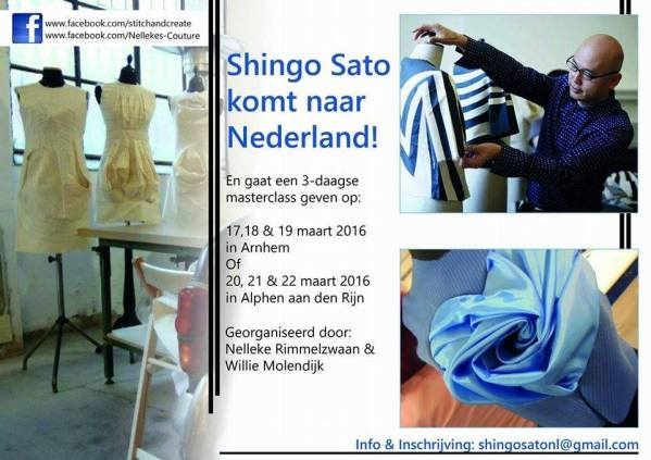 draping, Shingo Sato, patterns, Japan, couture, sewing, sewcialists, Netherlands