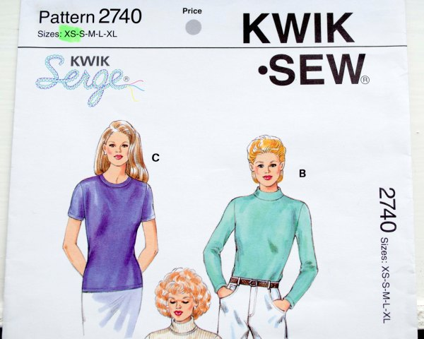 KwikSew pattern, 2740, top, woman top, jersey, wool jersey, RPT Couture, handmade, sewcialists, made to order,